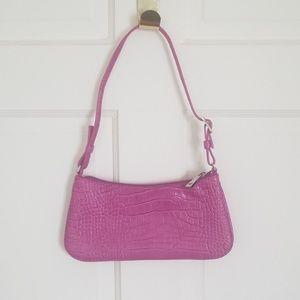 Express Genuine Leather Purple Handbag Purse